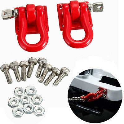 A Pair 1/10 Scale Trailer Hook Accessory For RC Crawler SCX-10 Truck Js