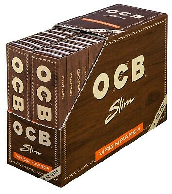OCB Virgin 32 x 32 Slim Blättchen + Filter Tips | Unbleached Long Papers