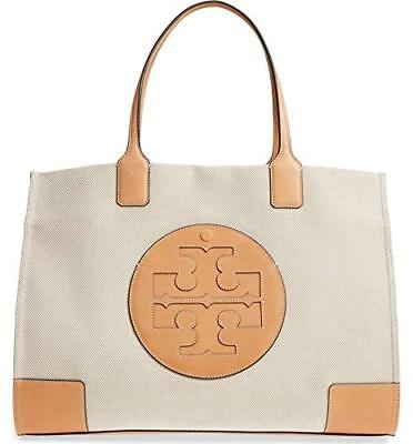 dd353d4d7a4 TORY BURCH  498 Natural Canvas   Leather Moto Tall Swingpack NWT ...