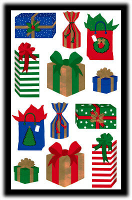 Vintage Mrs. Grossman's Gigi Sproul Christmas Gifts Presents Holidays Stickers