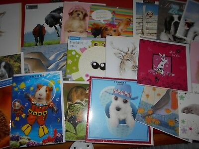 20 * Animal *  Birthday/Blank greeting cards ~ cats,dogs,etc ~ free postage