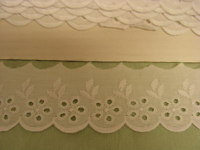 Broderie Anglaise Flat Lace  (147120) - White 7 meters