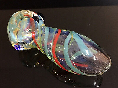 """3.5"""" Collectible Color Changing TOBACCO Smoking Pipe Herb bowl Glass Hand Pipes"""