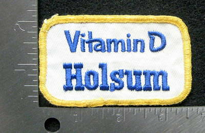 HOLSUM BREAD EMBROIDERED SEW ON  PATCH VITAMIN D BAKING COMPANY 3 1/2 x 2