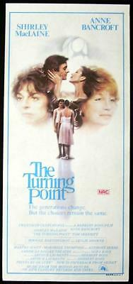 THE TURNING POINT Daybill Movie poster Ballet Shirley MacLaine Anne Bancroft