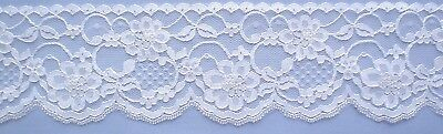 70mm White Raschel Nylon Lace (per metre)