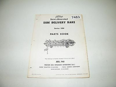 Ford Semi-Mounted Side Delivery Rake Series 508 Parts Catalog 1965 PA-6866-A