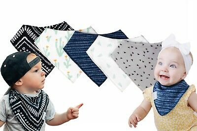 Baby Bandana Drool Bibs, Girl or Boy, 5 Pack, Premium Baby Bibs,