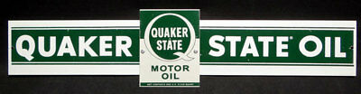 Metal Quaker State Oil Metal Sign Gas Gasoline Ad Advertising