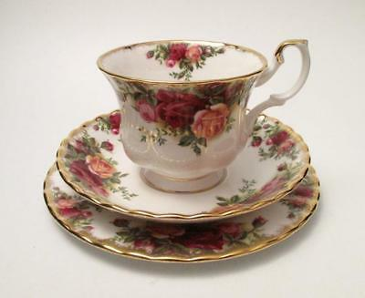Royal Albert Old Country Roses Trio English Fine Bone China Cup Saucer Plate