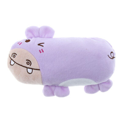 Cartoon Animal Plush Rabbit Hippo Bear Frog Shaped Pet Dog Cat Squeak Toy