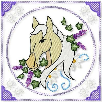 Horses Profile Blocks 10 Machine Embroidery Designs Cd 2 Sizes Included