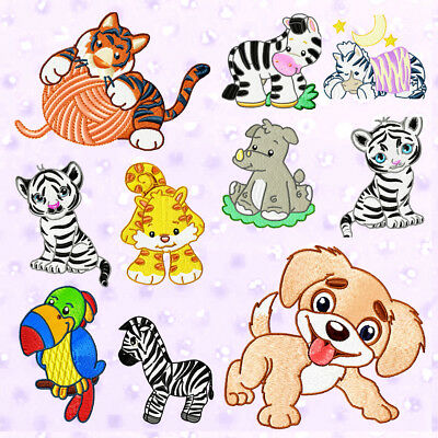 "Cutest Animals * 55*  Machine Embroidery Designs Cd """"great Value"""""