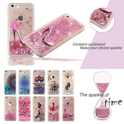 Liquid Sparkling Quicksand Clear Protective Case for iPhone 5 S 6 7 8 X XR Plus