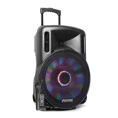 "Enceinte sono mobile active Subwoofer 15"" 800W Bluetooth USB SD AUX  + 1 micro"