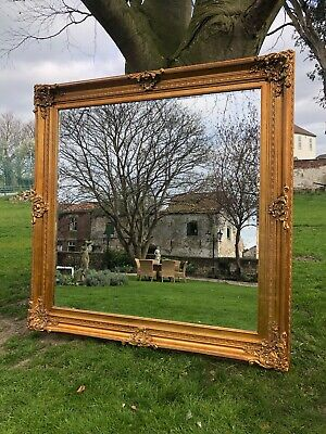 HUGE Extra Large gold gilt French antiqued Wall leaner mirror 185cm square