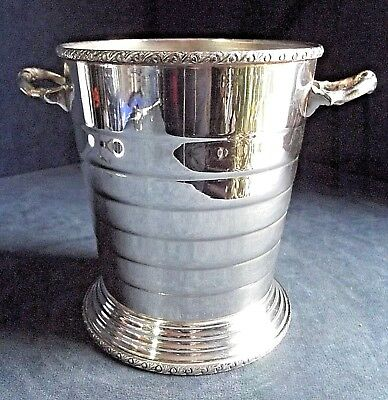SUPERB ~ ART DECO Style ~ SILVER Plated ~ ICE Holder ~ c1930 by Seranco