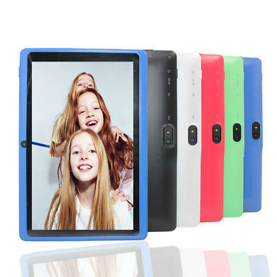 "7"" Tablet PC Android 4.4 Quad-core 4GB WiFi Google Dual camera Kids Child UK"