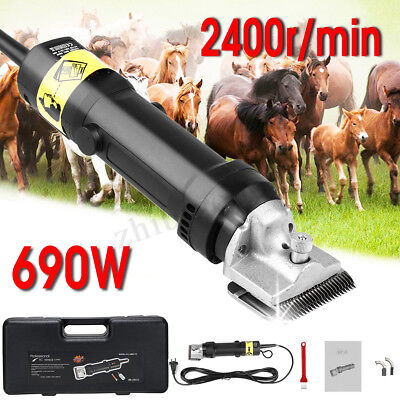 690W 220V Electric Horse Shears Animal Shaver Shearing Clippers Pet Farm Machine