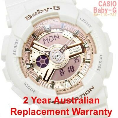 Casio Baby-G Watch Ba-110-7A1 Free Express Rose Gold Ba-110-7A1Dr 2Year Warranty