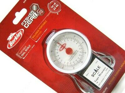 Berkley 1318357 Portable 50 Lb Dial Fish Scale Weight w/ 39 In Tape Measure
