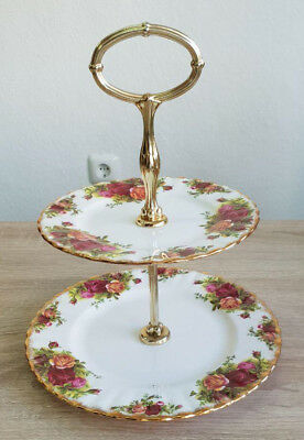 Royal Albert England Old Country Roses Etagere