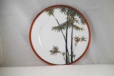 Vintage Asian Style Decorative Plate Bamboo