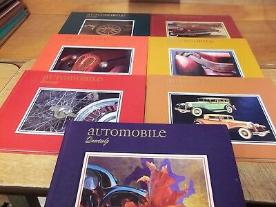 Automobile Quarterly book lot of 7, Volumes 29, 31, 32 & 33
