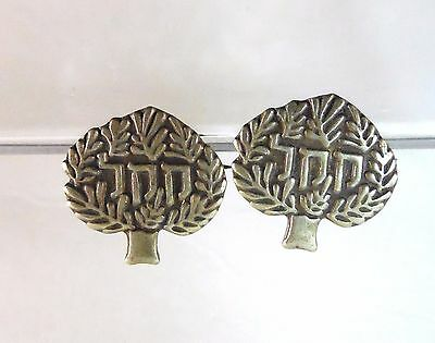 2 Vintage JNF Pins - Jewish National Fund in Blue Box