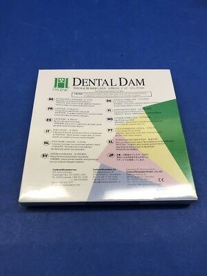Coltene/Whaledent 300706B Dental Dam Natural Rubber Latex 6in.x6in.  ~ Box of 36