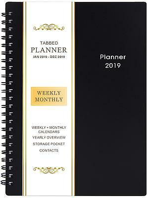 2019 Planner Weekly & Monthly Planner Daily Calendar Flex Book New 3 Colors