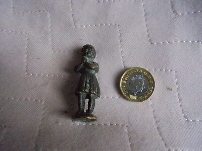 Antique cold painted bronze figure of girl with Hands Clasped