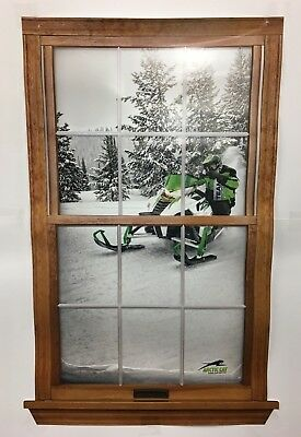 "RARE NEW ARCTIC CAT SNOWMOBILE SLED REALISTIC WINDOW POSTER 38"" x 25""!"