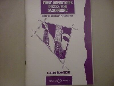 FIRST REPERTOIRE PIECES FOR SAXOPHONE (ALTO) by PETER WASTALL  - JUST £3.49