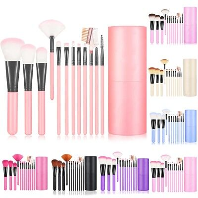 Pro Makeup Brushes Set Foundation Eyeshadow Powder Blush Brush with Case Holder