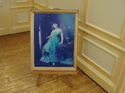 Dollhouse Miniature Gold Framed Picture Titled: We Both Must Fade