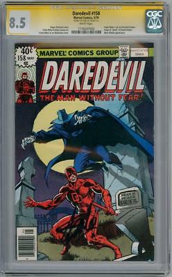 Daredevil #158 Cgc 8.5 Signature Series Signed Stan Lee 1St Frank Miller Marvel