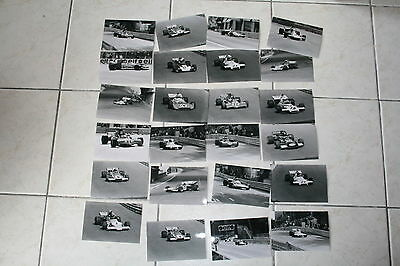 lot 24 photos grand prix Monaco F1 1972 Peterson Amon Beuttler Redman....