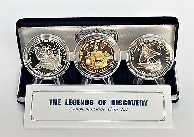 1992 Marshall Islands The Legends of Discovery Commemorative Coin Set