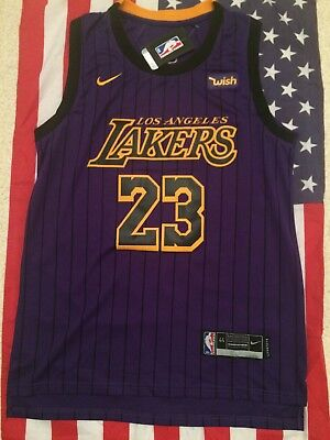 NBA Maillot City Edition Los Angeles Lakers LeBron James T.44 (S)