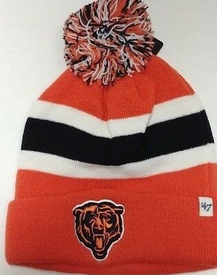 29ebedcf34eeed Chicago Bears Authentic Breakaway Cuffed Knit Hat by Brand 47 - Free Ship