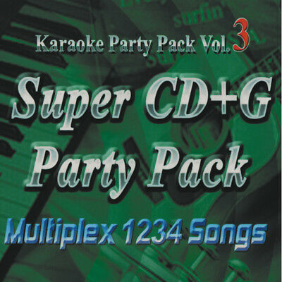 Nutech Karaoke Vol-3Super CD+G 1234 Tracks it Plays on Cavs or Window PC In case