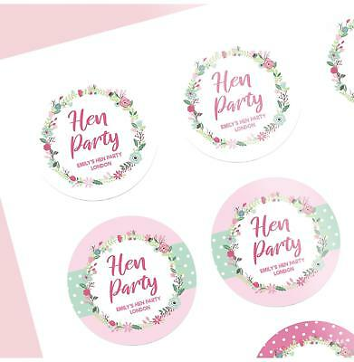 Pack of 12 Army Squad Personalised Hen Party Stickers Metallic Gold