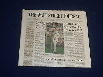 2018 May 16 Wall Street Journal Newspaper - Hopes Fade On Nafta Deal By Year End