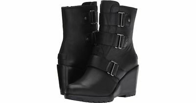 df4cd1dd8c63 NEW SOREL AFTER Hours Bootie Boot Black Womens 10 Leather Free Ship ...