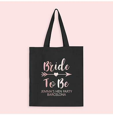 Bride Tribe 'Bride to Be' Rose Gold Personalised Hen Party Tote Bags
