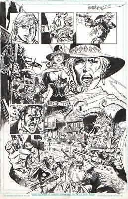 Jose Garcia-Lopez Signed 2013 Madame .44 Splash Original Art-Free Shipping!