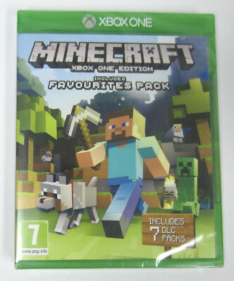 NEW Minecraft (xBox One Edition) Video Game Includes Favourites 7 DLC Packs
