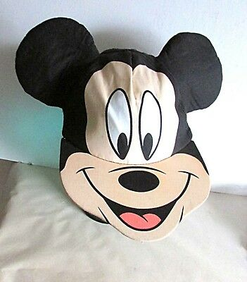 Mickey Mouse Vintage Baseball Cap Hat with Ears Nose & Mouth Disney FREE SH