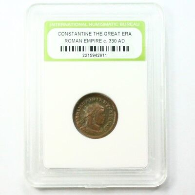 Slabbed Ancient Roman Constantine the Great Coin c330 AD Exact Coin Shown st1627